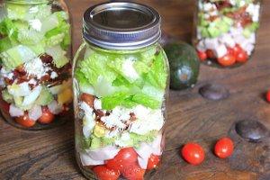 Cobb-Salad-in-a-Jar