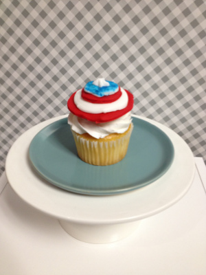 Captain America Fondant Cupcake