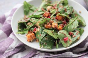 Crispy-Quinoa-Power-Greens-Salad