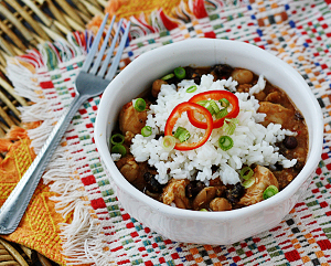 3 Bean Salsa Chicken 'n' Rice