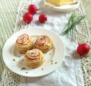 Salt & Butter Radishes on Chive Buttermilk Biscuits