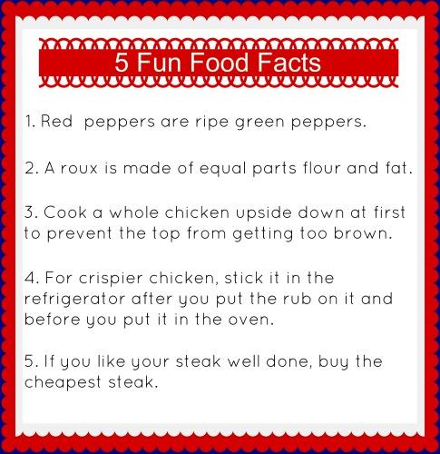 5 Fun Food Facts