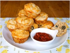 Stupidly Easy Pizza Muffins
