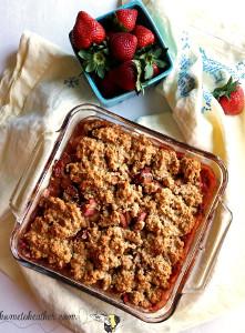 Guilt-Free Strawberry Rhubarb Cobbler