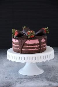 Chocolate-Strawberry-Layer-Cake