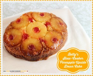 Slow Cooker Pineapple Upside Down Cake Recipe