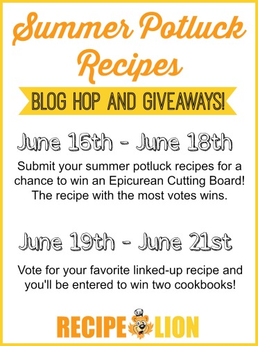 Summer Potluck Recipes Blog Hop