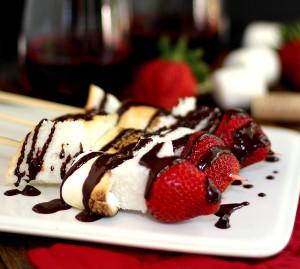 Angel Food Cake S'mores Skewers