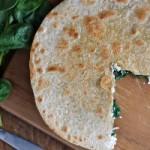 5 Ingredient Spinach and Mushroom Quesadillas