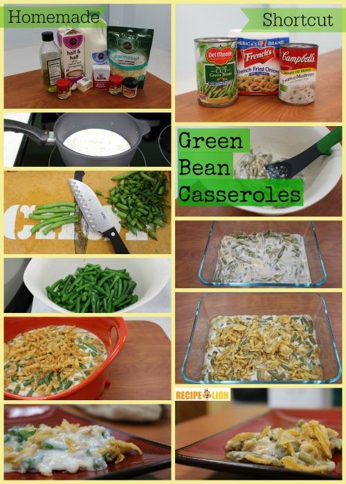 Green Bean Casseroles: Step by Step Process
