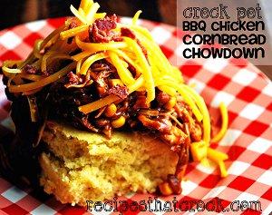 BBQ Chicken Cornbread Chowdown