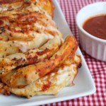 4-Ingredient Pull Apart Pizza Bread