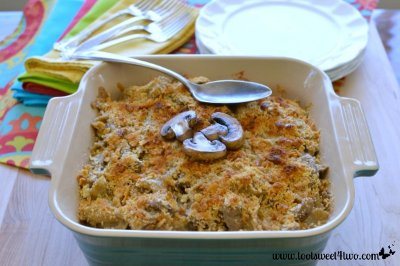Beefy Mushroom Noodle Bake