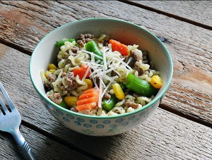 Ramen Noodle and Beef Skillet