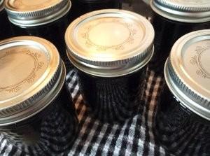 Mason Jar Blueberry Jam