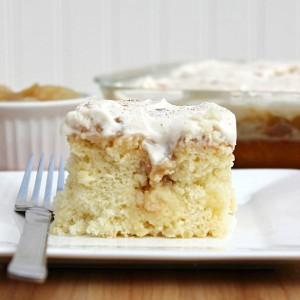 Comforting Caramel Apple Poke Cake
