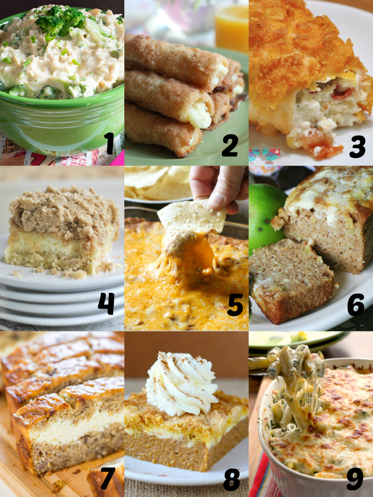 Recipes with Cream Cheese