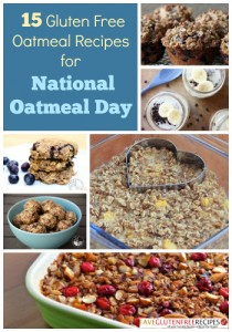 15 Gluten Free Recipes for National Oatmeal Day