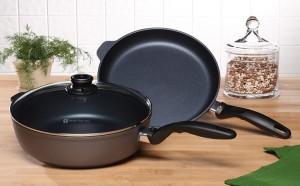 Swiss Diamond Fry Pan and Saute Pan Set