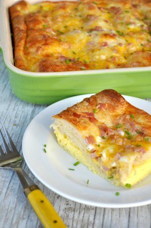 Ham Egg and Cheese Crescent Roll Casserole 2