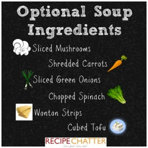 Optional Soup Ingredients