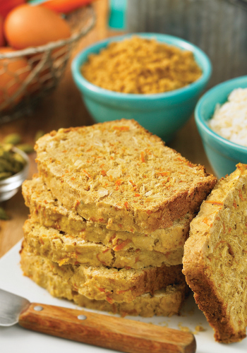 Carrot Bread with Coconut and Cardamom
