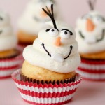 Frozen Fever Olaf Cupcakes