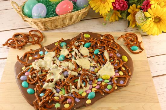 Leftover Easter Candy Bark