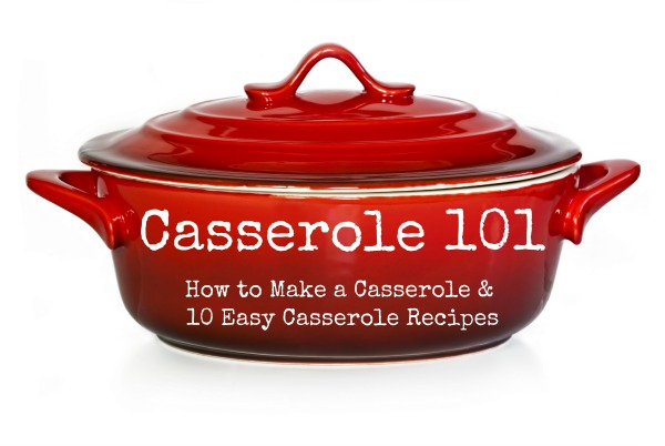 Red casserole dish or crock pot, isolated on white.