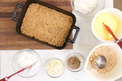 Vanilla Dessert Lasagna Step 1