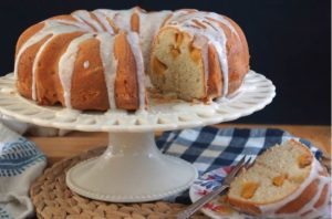 Peach Sour Cream Bundt Cake