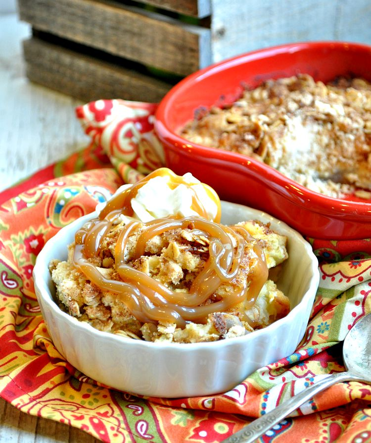 Dump and Bake Caramel Apple Crisp 2