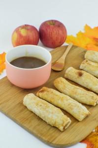 Apple Pie Dippers with Bourbon Caramel Sauce