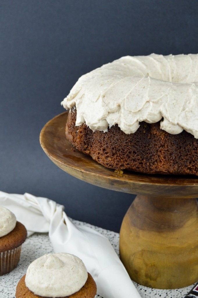 Gingerbread Bundt Cake with Cinnamon Cream Cheese Frosting | www.revamperate.com