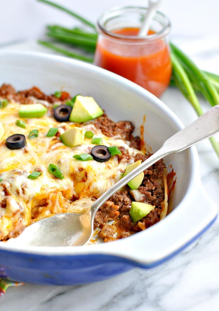 Healthy 4-Ingredient Enchilada Casserole - RecipeChatter