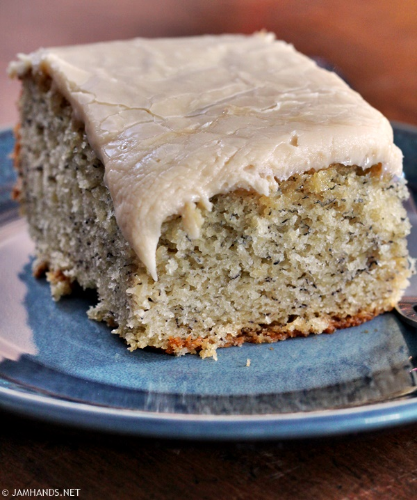 Banana Cake With Quick Caramel Frosting