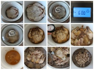 Slow Cooker Chicken by Underground Crafter for RecipeChatter   How to cook a whole chicken in the slow cooker for once a month cooking