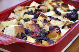 Easiest-Ever Chocolate Strawberry Bread Pudding