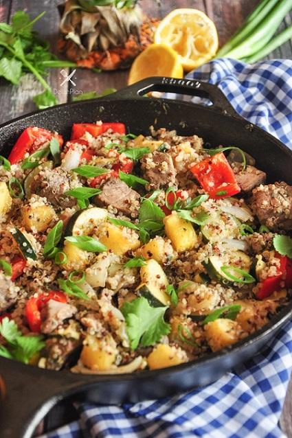 Pineapple Tuna Quinoa Skillet