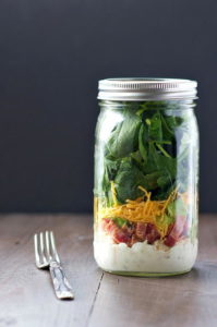 Chicken Bacon and Ranch Mason Jar Salads