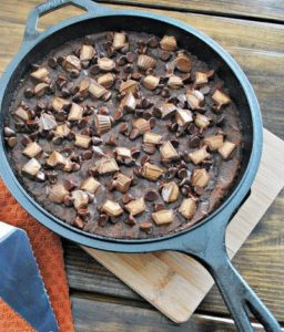 Skillet Peanut Butter Brownie Recipe