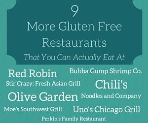 9 More Gluten Free Restaurants