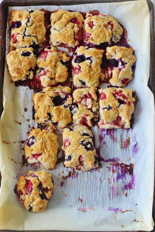 Strawberry Blueberry Buttermilk Scones