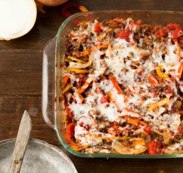 Quinoa Stuffed Peppers Casserole