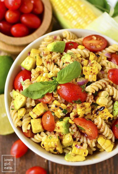 Corn and Avocado Pasta Salad