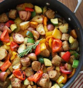 One Pot Wonder with Sausage and Veggies