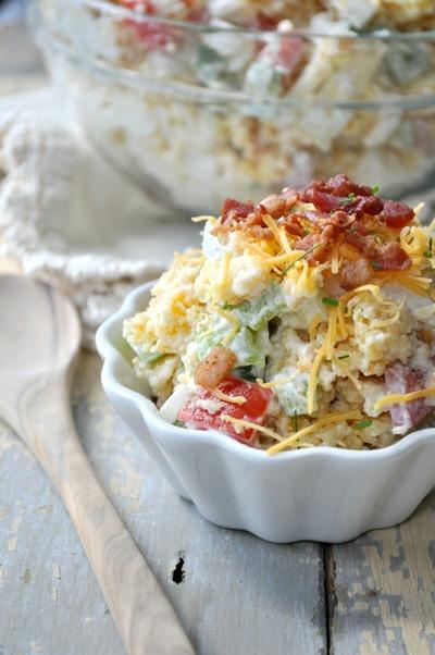Bacon and Cheese Cornbread Salad