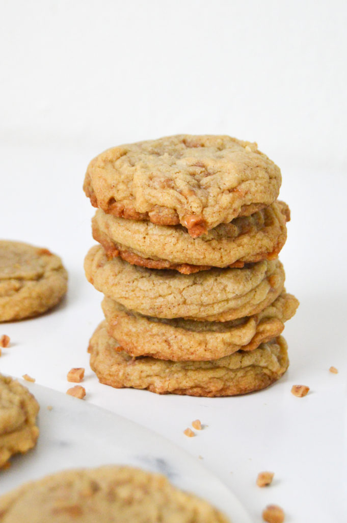 Brown Sugar Toffee Cookies