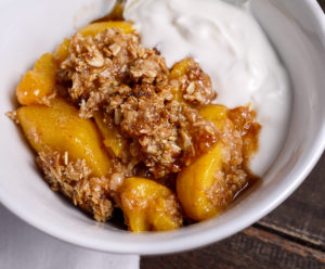 Bourbon Peach Crumble