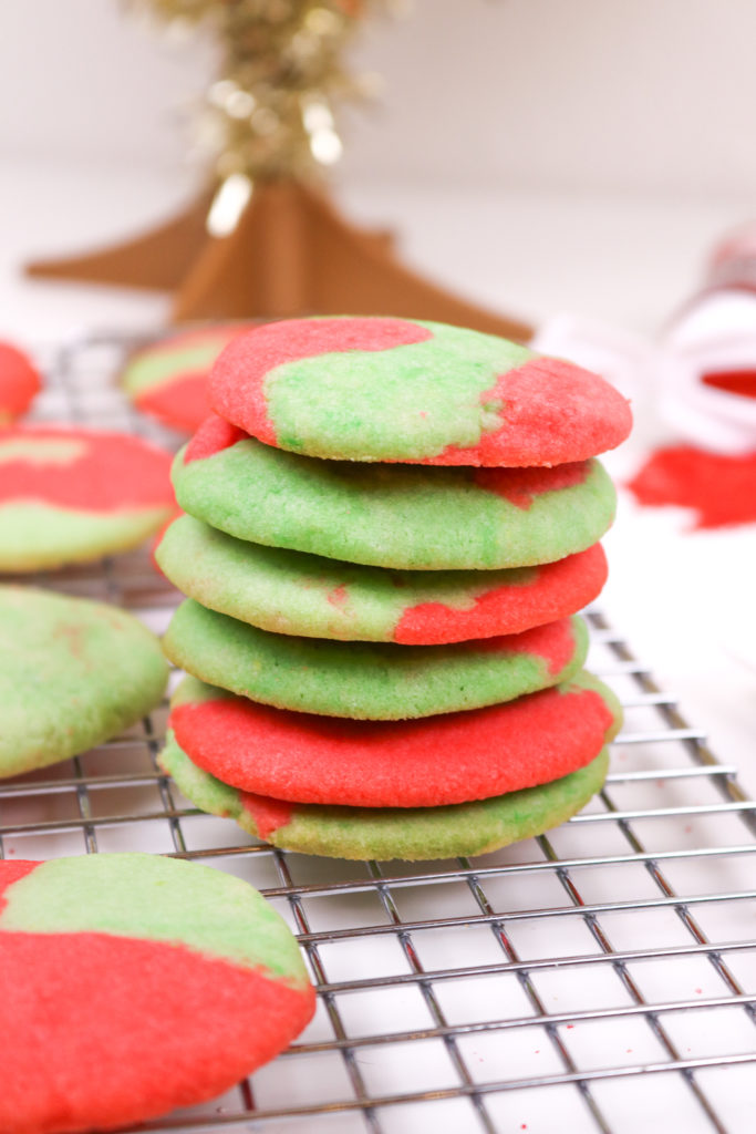 Marbled Sugar Cookies for Christmas